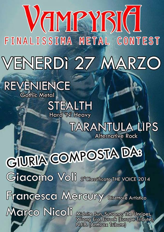 live@vampyria metal contest flyer
